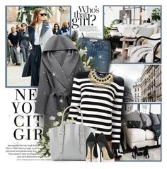 """""""Street Style"""" by l33l ❤ liked on Polyvore featuring H&M, Frame, WithChic, Yves Saint Laurent, Alexander McQueen and Jimmy Choo"""