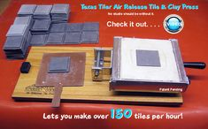 Cowtown Ceramics - Home of the Texas Tiler Air Release Tile Press