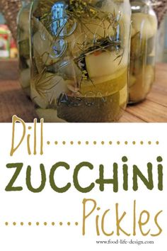 Looking for a new way to preserve your summer squash? Try these delicious dill zucchini pickles - your whole family will love them! Squash Relish Canning Recipe, Canning Salsa, Canning Pickles, Pickles Recipe, Canned Zucchini, Zucchini Relish, Home Canning Recipes, Canning Tips