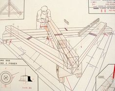 Fr Sc picage R 1 Blueprint Drawing, Japanese Joinery, Wood Joints, Woodworking Inspiration, Wood Structure, Wood Steel, Timber Frame Homes, Post And Beam, Assemblages