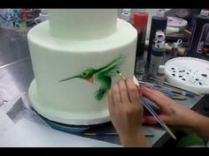 ▶ Painting on Cakes part 1 - Savannah Custom Cakes - YouTube