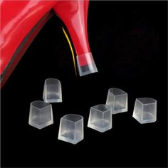 1Pair High Heel Protectors Stopper Protect Heels On Uneven Surfaces Anti-Slide