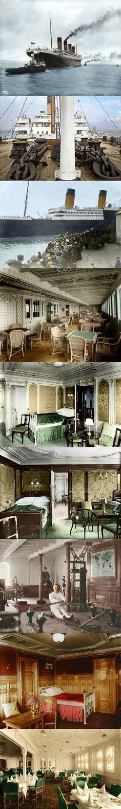Titanic in Color White Star Line