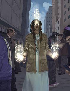 Mage: the Awakening 2nd Edition full page illustration by Andrew Trabbold Onyx Path Trabbold_Awakening2.jpg (612×792)
