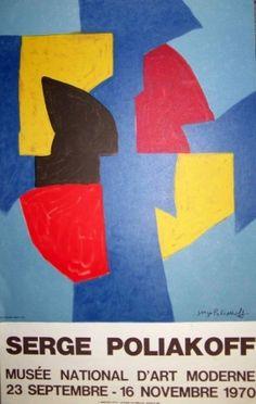 Affiche de Serge Poliakoff, Serge poliakoff sur Amorosart