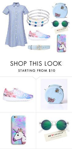 """кюз  & must have"" by darya-karbovskaya ❤ liked on Polyvore featuring NIKE, H&M and Gucci"