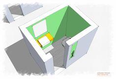 Banheiro Masculino - Sketchup - projeto