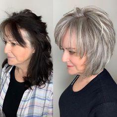 Hair Styles For Women Over 50, Short Hair Older Women, Haircut For Older Women, Medium Hair Styles, Long Hair Styles, Gray Hair Women, Bob Hairstyles For Fine Hair, Mom Hairstyles, Older Women Hairstyles