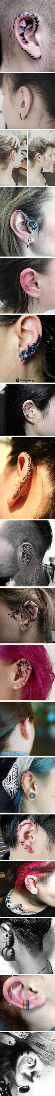 Helix tattoos are the snazzy new body art trend that's taking over the internet