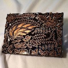 BATIK of Samui, COPPER Chop Hand Block Stamp - Antique, Vintage, Malaysia $59.00