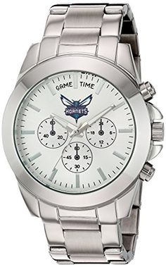 Game Time Womens KnockOut Quartz Stainless Steel Automatic Watch ColorSilverToned Model NBATBYCHA -- For more information, visit image link.