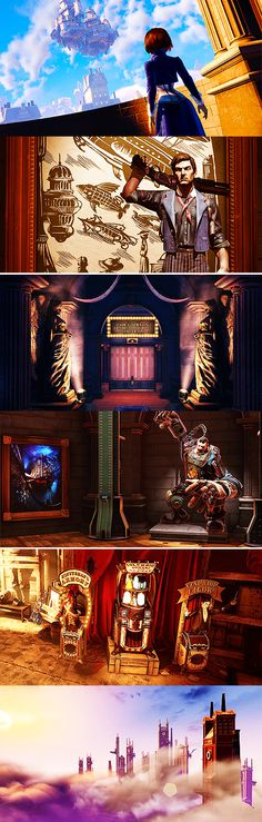 bioshock infinite - clash in the clouds - Constants and Variables - Game's Bioshock 2, Bioshock Series, Bioshock Infinite, Only Play, Video Game Art, Borderlands, Cthulhu, Resident Evil, Skyrim