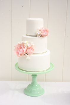 Pink peony and hydrangea cake by Cake Ink. (Janelle), via Flickr