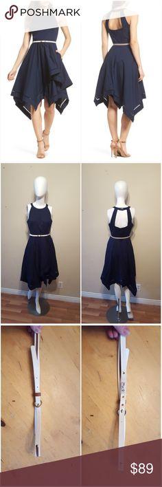 70f324635671a Eliza J Handkerchief Hem Fit   Flare Dress Eliza J Handkerchief Hem Fit   Flare  Dress