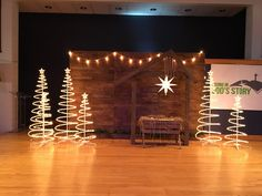 Christmas church stage