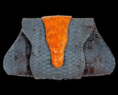 Sarah Forsyth London genuine exotic skin designer handbags in the UK (Safor Limited) - in real python, cobra, lizard, watersnake and stingray | Colourful snakeskin and leather clutch bags