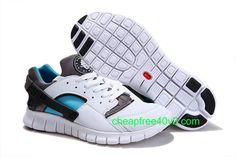 save off 9829a 7ba62 Nike Huarache Run Free White emerald, Nike Huarache Free Herr Grå Vit