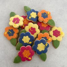 Exotic Flower Biscuits