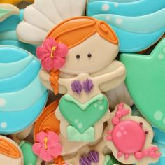 Baby Mermaid Cookies