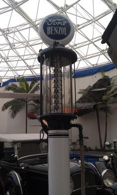 In the rotunda - Ford Benzol gas pump