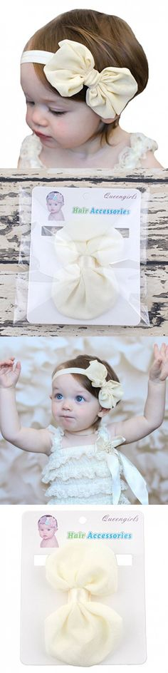 Baby Baptism Headbands Baby Christening Hair Bows for Outfit and Festival by Miugle