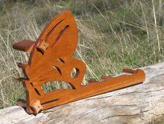 Card / Inkle weaving loom  - Cherry Wood Butterfly by Toplyfiberarts on Etsy