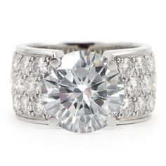 Custom Engagement Rings White Gold Wide Band 11