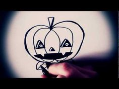 How To Draw A Pumpkin Head By Garbi KW (Special Halloween)