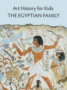 Explore ancient Egypt with kids while looking at a colorful tomb painting of a family. Includes questions for preschoolers on up. Ancient Egypt Crafts, Ancient Egypt For Kids, Egyptian Crafts, Egyptian Art, Egyptian Jewelry, History For Kids, Art History, Art Through The Ages, Art Lessons Elementary