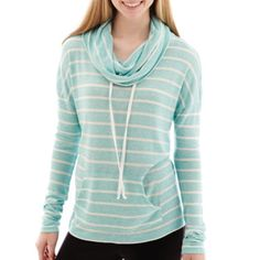 City Streets® Long-Sleeve Hooded Pullover Striped Tunic - JCPenney