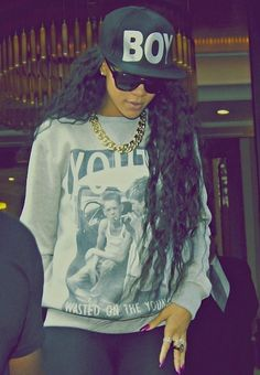 Rihanna. Boy London! #style