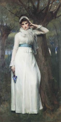 Iris.1891. Oil on Canvas. 205.7 x 105.4 cm. Art by Sir James Jebusa Shannon.(1862-1923).