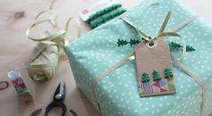 Little Hannah: DIY: packaging en verde y dorado