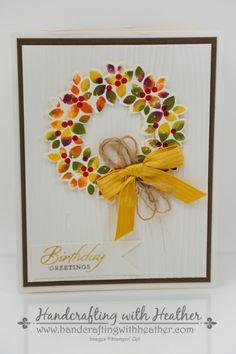 Created by Kristi Gray - Wondrous Wreath (baby wipe technique)