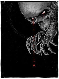 "Grey Matter Art Recruits Godmachine For A Creepy ""Nosferatu"" Print Horror Art, Horror Movies, Vampires And Werewolves, Movie Poster Art, Film Posters, Halloween Horror, Halloween Stuff, Skull And Bones, Skull Art"