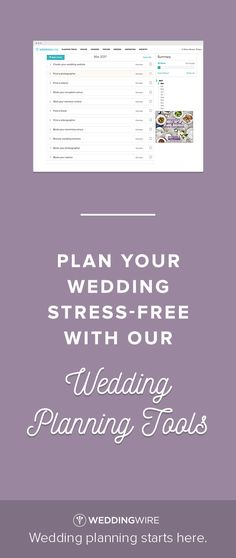 Easily organize & plan your wedding online with our free planning tools!