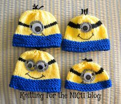 Knitting for the NICU blog.  Halloween in the NICU 2015