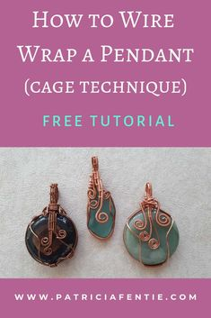 Learn how to make a wire wrapped pendant! Wire wrapping is an easy and creative . - Learn how to make a wire wrapped pendant! Wire wrapping is an easy and creative way to make all sor - Bijoux Wire Wrap, Wire Wrapped Earrings, Bijoux Diy, Wire Wrapped Pendant, Wire Earrings, Diamond Earrings, Wire Wrapped Stones, Silver Earrings, Wire Jewelry Making