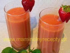 Jahodovo-mangové smoothie