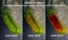 The severity of California's drought continues to shock, with the latest example coming courtesy of  NASA .