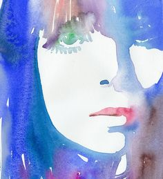 Original Watercolor Painting Fashion by silverridgestudio on Etsy