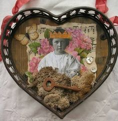 Wonderful assemblage using a little  paperwhimsy sweetie.
