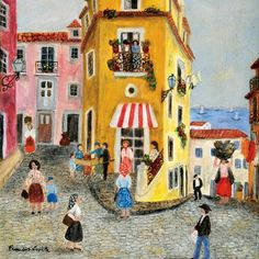 What do you think of this Francis Smith painting of lisbon? We at São Mamede think it is very special! #saomamede #painting #portugal #lisbon #art #artwork #sãomamedeartgallery #FrancisSmith #nofilter