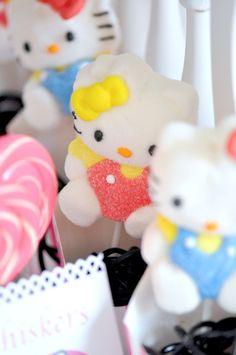 Hello Kitty Marshmallow lollipops
