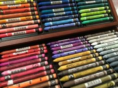 Caran D'Ache Neocolor II water soluable crayons....recommended for mixed media art