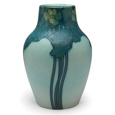 """Good Rookwood vase, early Vellum glaze with a finely painted floral design, executed by Albert Valentien in 1904, #394DZ, 6.5""""w x 9.5""""h, exc..."""