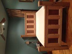 Old cypress bed . Find us on FaceBook . Monceret's Fine Woodworking
