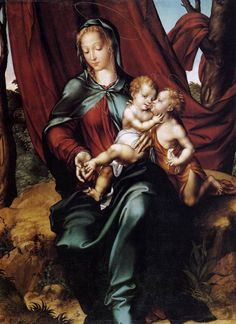 Virgin and Child with the Infant Saint John the Baptist by Luis de Morales
