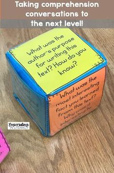 Reading Comprehension Questions for Deeper Conversations about Text. Fun comprehension activities that help students have meaningful discussions about what they have read. first grade, second grade, third grade, fourth grade