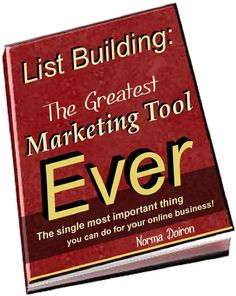"The NEW* Book is OUT!!! And, it's FREE!!! Woohoo! ""List Building: The Greatest Marketing Tool Ever! Build Your Business Online."" Grab your copy, just follow directions... ENJOY & Blessings! http://on.fb.me/HFzQrz"